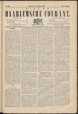 Nieuwe Haarlemsche Courant 1886-02-18