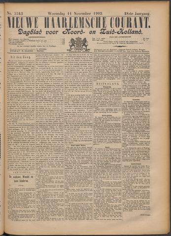 Nieuwe Haarlemsche Courant 1903-11-11