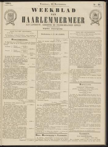 Weekblad van Haarlemmermeer 1864-11-11