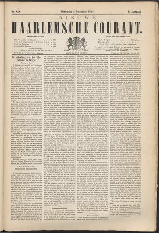 Nieuwe Haarlemsche Courant 1884-09-04