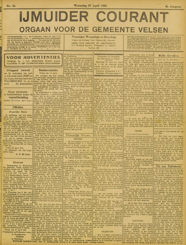 IJmuider Courant 1921-04-27