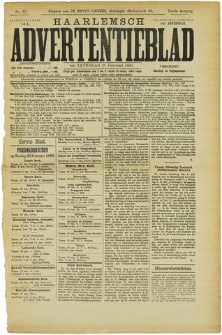 Haarlemsch Advertentieblad 1888-02-25
