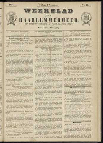 Weekblad van Haarlemmermeer 1877-11-02
