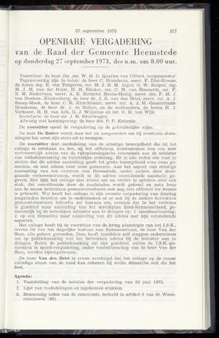 Raadsnotulen Heemstede 1973-09-27