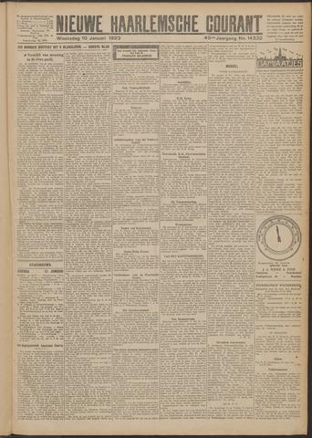 Nieuwe Haarlemsche Courant 1923-01-10