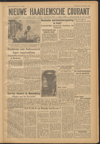 Nieuwe Haarlemsche Courant 1946-03-15