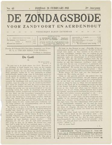 De Zondagsbode voor Zandvoort en Aerdenhout 1915-02-28