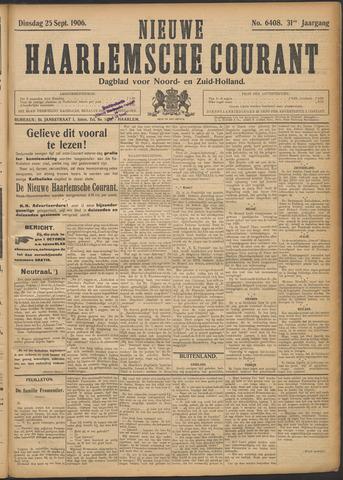 Nieuwe Haarlemsche Courant 1906-09-25