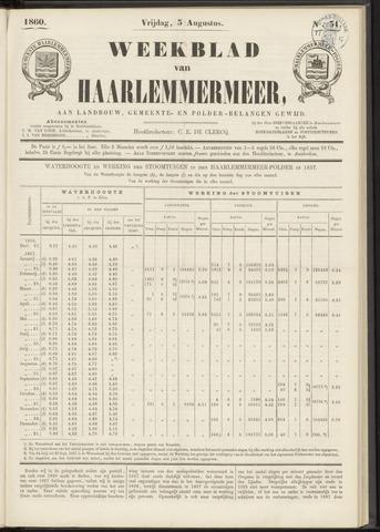 Weekblad van Haarlemmermeer 1860-08-03
