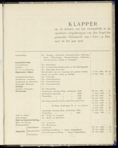 Raadsnotulen Heemstede 1907