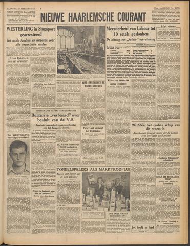Nieuwe Haarlemsche Courant 1950-02-27