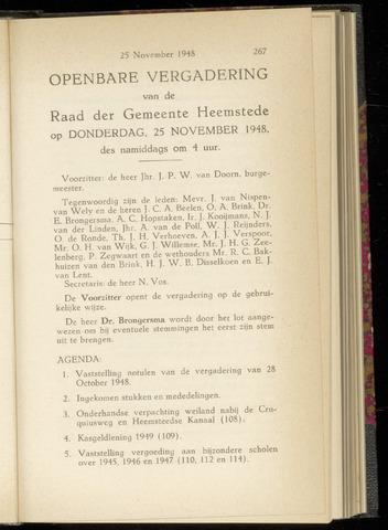 Raadsnotulen Heemstede 1948-11-25