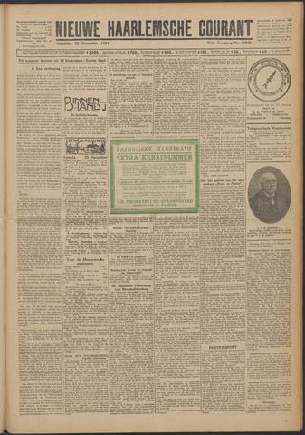 Nieuwe Haarlemsche Courant 1924-12-22