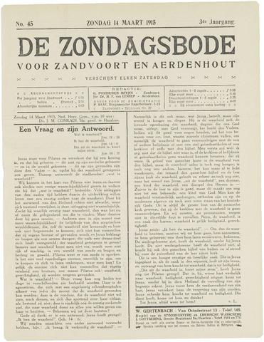 De Zondagsbode voor Zandvoort en Aerdenhout 1915-03-14