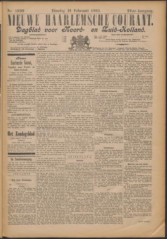 Nieuwe Haarlemsche Courant 1905-02-21