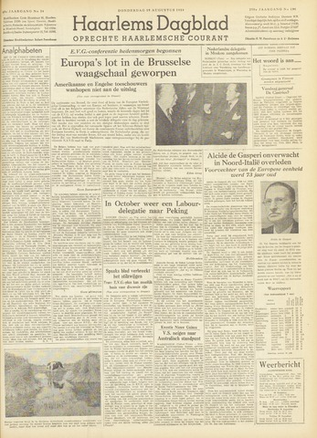 Haarlem's Dagblad 1954-08-19