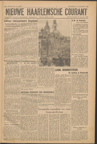 Nieuwe Haarlemsche Courant 1945-08-01