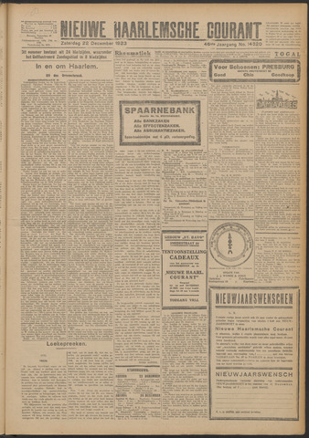 Nieuwe Haarlemsche Courant 1923-12-22