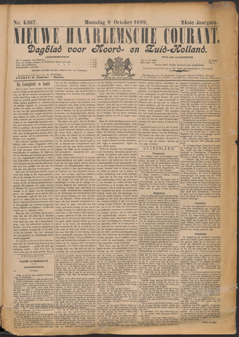 Nieuwe Haarlemsche Courant 1899-10-09