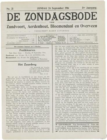 De Zondagsbode voor Zandvoort en Aerdenhout 1916-09-24