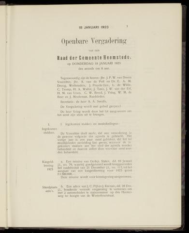 Raadsnotulen Heemstede 1923-01-18