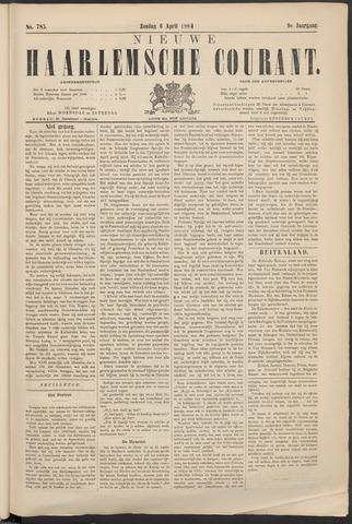 Nieuwe Haarlemsche Courant 1884-04-06