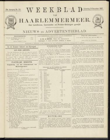 Weekblad van Haarlemmermeer 1887-12-31