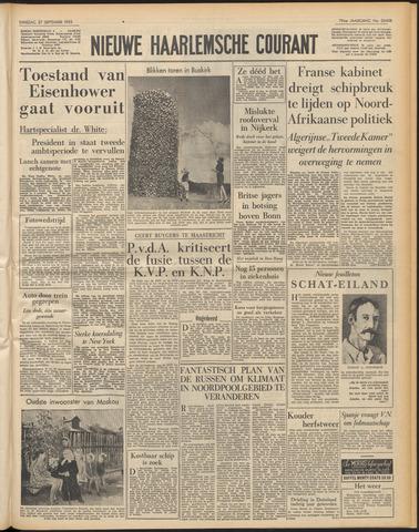 Nieuwe Haarlemsche Courant 1955-09-27