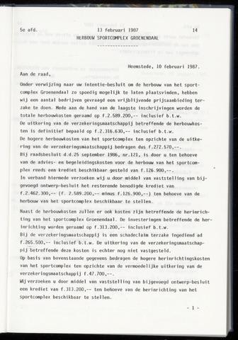 Raadsnotulen Heemstede 1987-02-13
