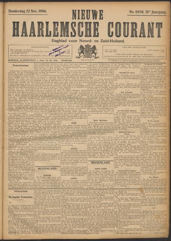 Nieuwe Haarlemsche Courant 1906-11-22