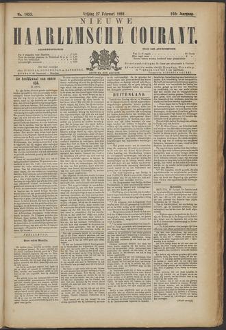 Nieuwe Haarlemsche Courant 1891-02-27