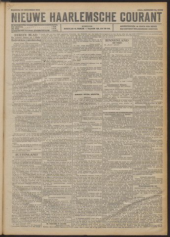 Nieuwe Haarlemsche Courant 1920-11-29