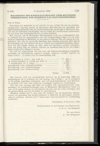 Raadsnotulen Heemstede 1959-12-17