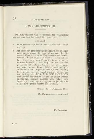 Raadsnotulen Heemstede 1944-12-05