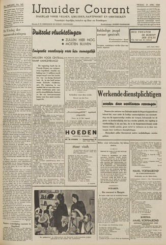 IJmuider Courant 1939-04-21