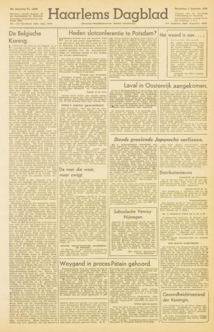 Haarlem's Dagblad 1945-08-01