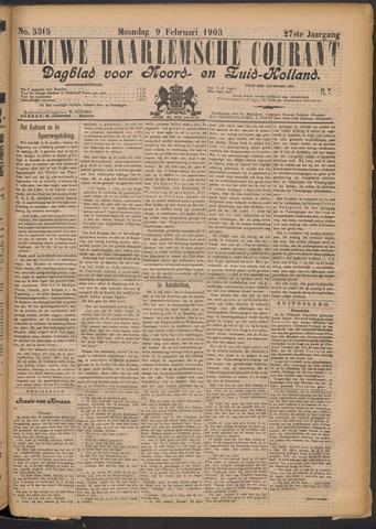 Nieuwe Haarlemsche Courant 1903-02-09