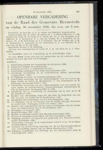 Raadsnotulen Heemstede 1956-11-30
