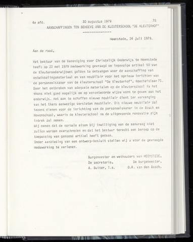 Raadsnotulen Heemstede 1979-08-30