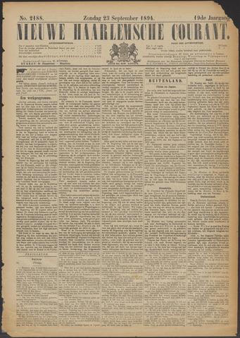 Nieuwe Haarlemsche Courant 1894-09-23