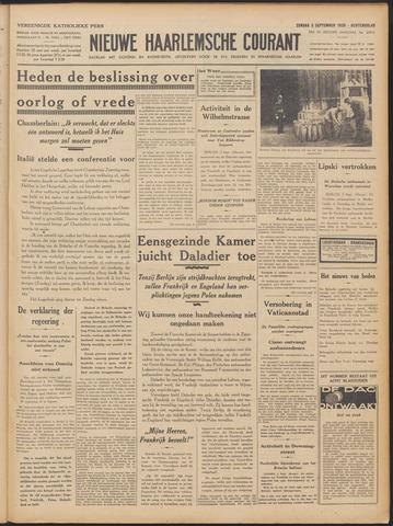 Nieuwe Haarlemsche Courant 1939-09-03