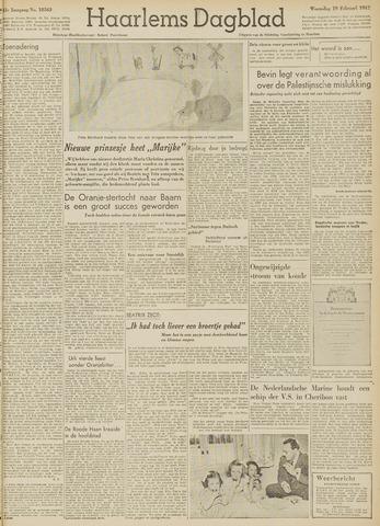 Haarlem's Dagblad 1947-02-19
