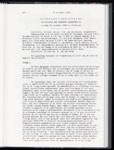 Raadsnotulen Heemstede 1990-11-30