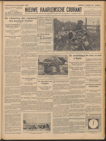Nieuwe Haarlemsche Courant 1936-11-19