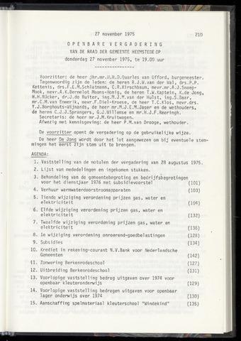 Raadsnotulen Heemstede 1975-11-27