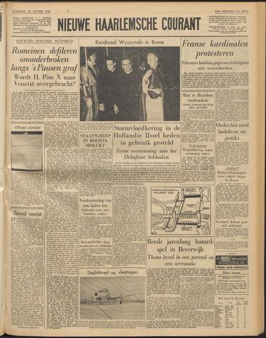 Nieuwe Haarlemsche Courant 1958-10-22