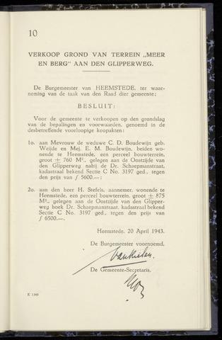 Raadsnotulen Heemstede 1943-04-20