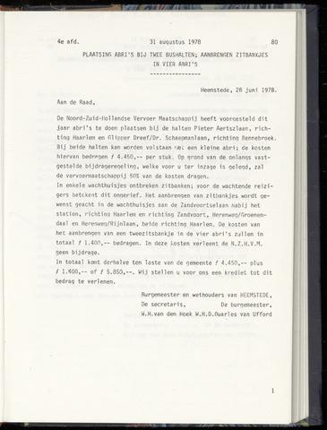 Raadsnotulen Heemstede 1978-08-31