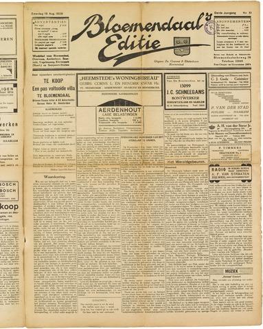 Bloemendaal's Editie 1928-08-18