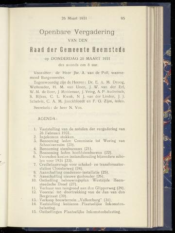 Raadsnotulen Heemstede 1931-03-26